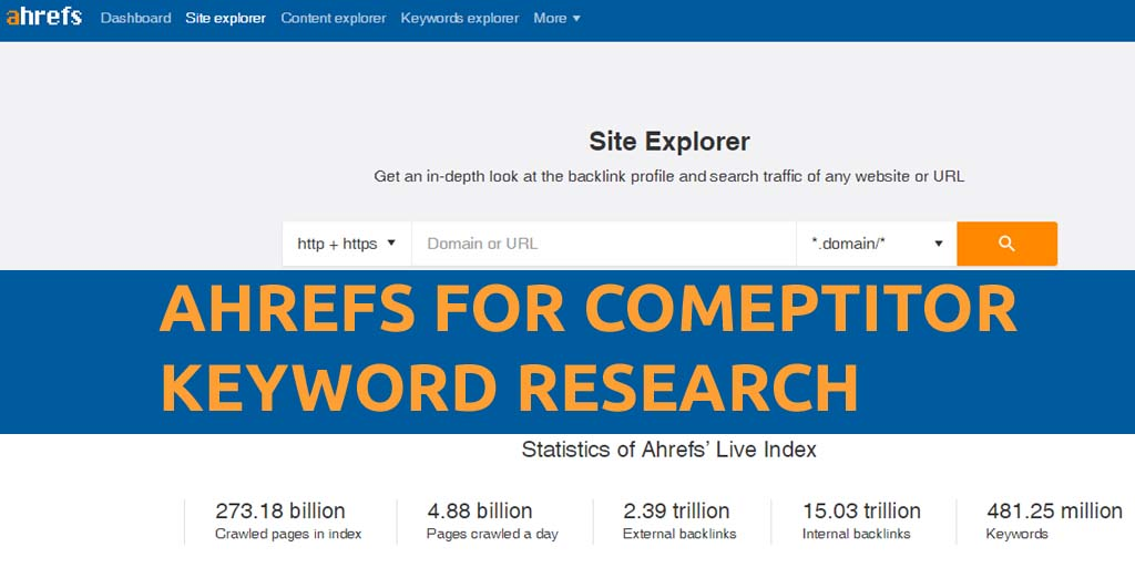 Ahrefs Competitors Keywords Research