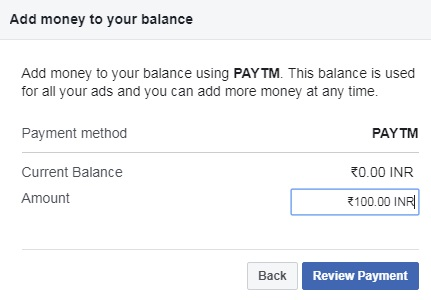 Facebook Ads Payment Payment