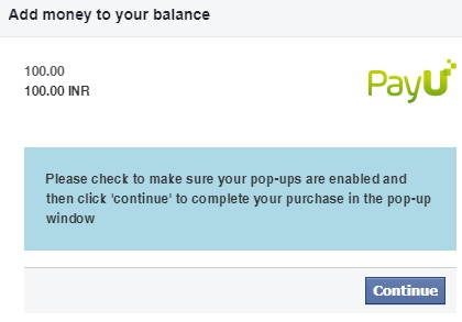 Paytm Facebook Ads Payment